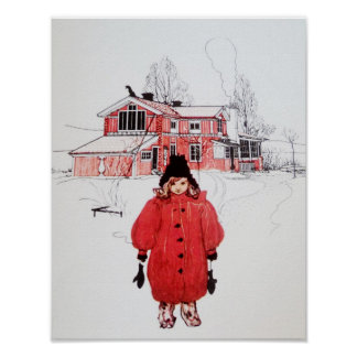 Standing in Winter Snow Print