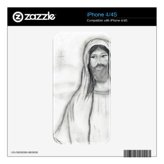Standing Jesus Skins For iPhone 4S