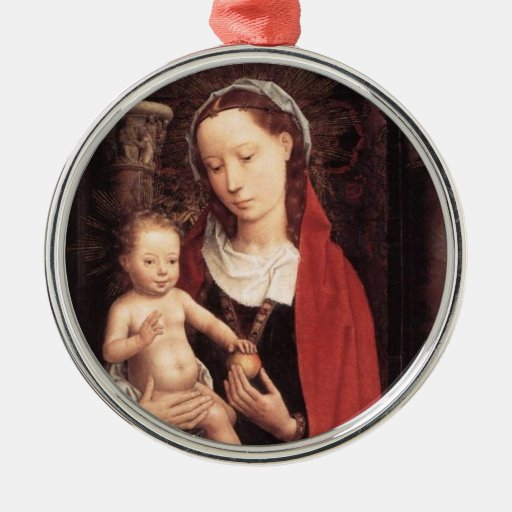 Standing Madonna and Christ Child Christmas Tree Ornament