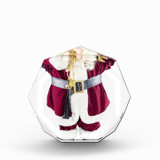 Standing model of Santa Claus isolated on white Acrylic Award