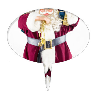 Standing model of Santa Claus isolated on white Cake Topper