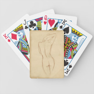 Standing Nude Female Drawing Bicycle Playing Cards
