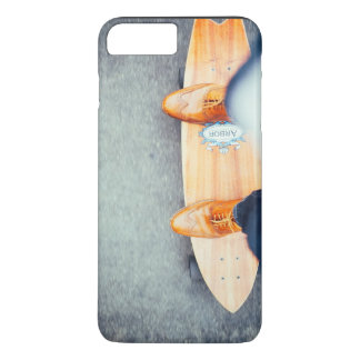 Standing on  a surfboard iPhone 7 plus case