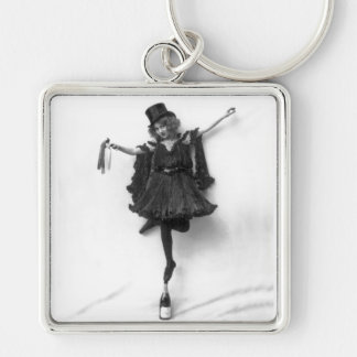 Standing on Champagne Keychain