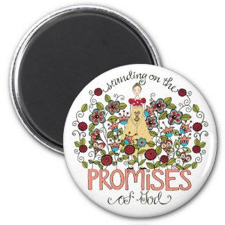 Standing on God's Promises Round Magnet