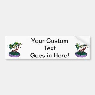 Standing On Root Elm Like Bonsai Tree Car Bumper Sticker