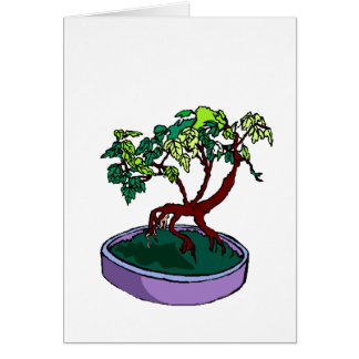 Standing On Root Elm Like Bonsai Tree Stationery Note Card