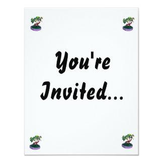 Standing On Root Elm Like Bonsai Tree 4.25x5.5 Paper Invitation Card