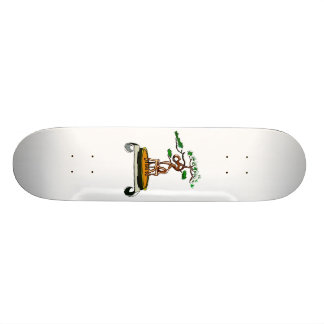 Standing On Roots Bonsai on Scroll Table Skateboard Deck