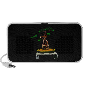 Standing On Roots Bonsai on Scroll Table Laptop Speaker