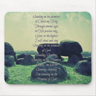 Standing on the Promises of God Christian Hymn Mouse Pad