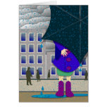 standing out in the rain greeting cards