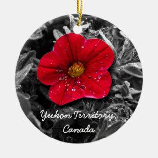Standing Out; Yukon Territory, Canada Ceramic Ornament