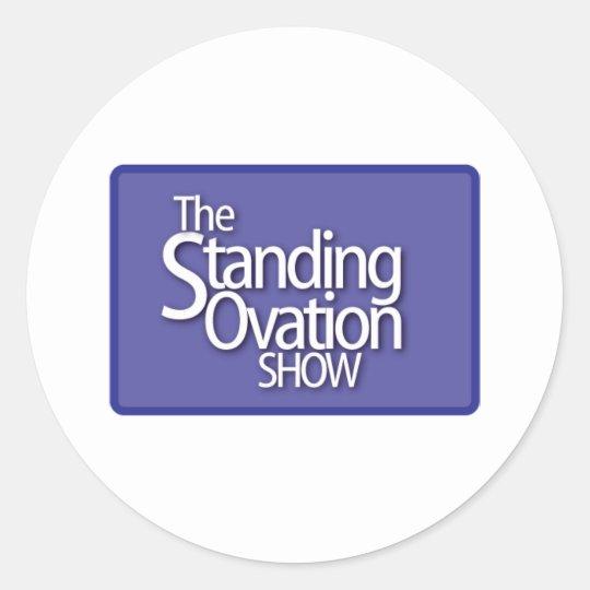 standing-ovation-logo classic round sticker