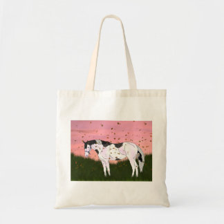 Standing Paint Horse at Sunset Tote Bag