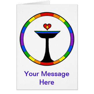 Standing Rainbow Chalice Customizable Note Card