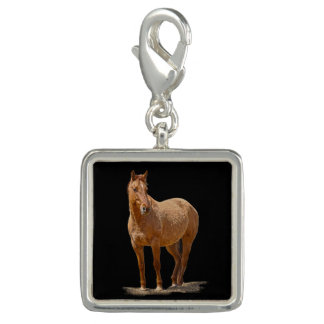 Standing Red Dun Horse Jewelery Design Charms