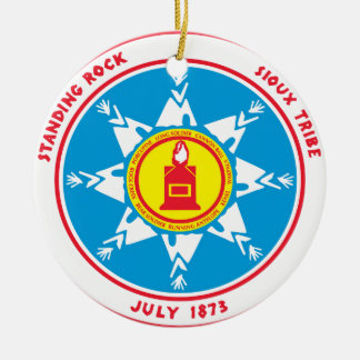 Standing Rock tribe logo Ceramic Ornament