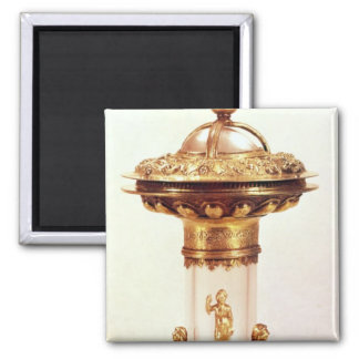 Standing salt, rock crystal with silver gilt 2 inch square magnet
