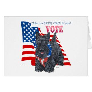 Standing Scottie VOTE Cards