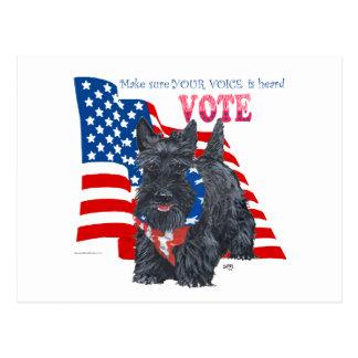 Standing Scottie VOTE Post Cards
