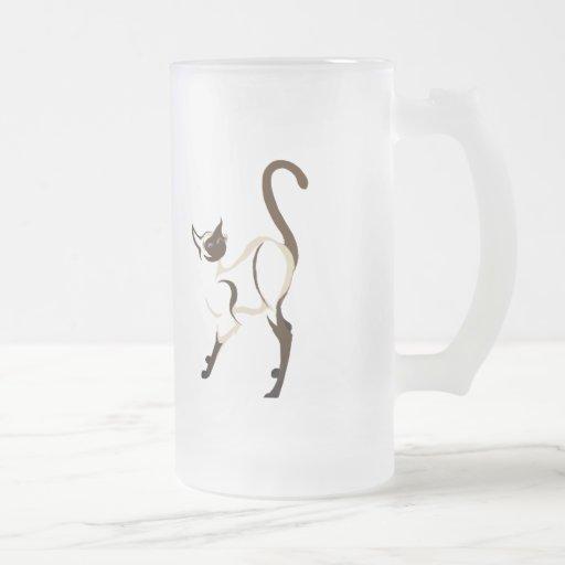 Standing Siamese Kitty Mugs