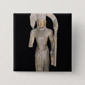 Standing statue of Harihara Button