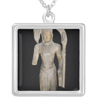 Standing statue of Harihara Silver Plated Necklace