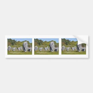 Standing stones at Carnac in France Bumper Sticker