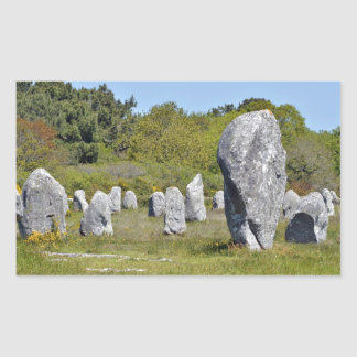 Standing stones at Carnac in France Rectangular Stickers
