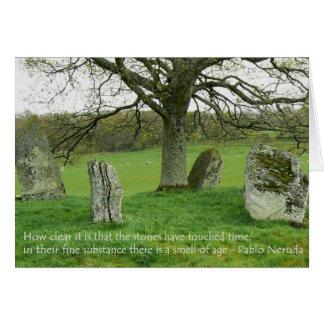 Standing Stones - Pablo Neruda Greeting Card