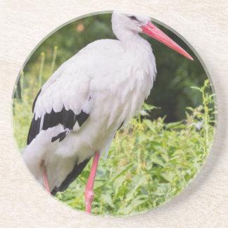 Standing stork drink coaster