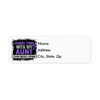 Standing Strong Aunt Hodgkins Lymphoma Label
