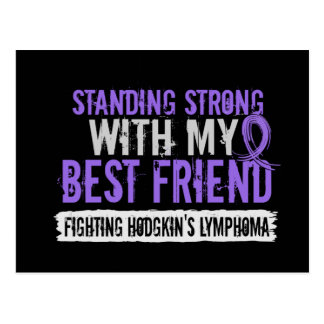 Standing Strong Best Friend Hodgkins Lymphoma Postcard