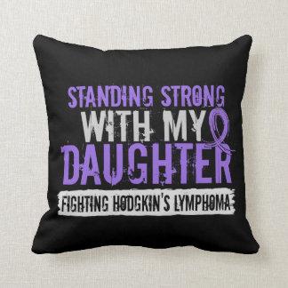 Standing Strong Daughter Hodgkins Lymphoma Throw Pillow