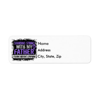 Standing Strong Father Hodgkins Lymphoma Label