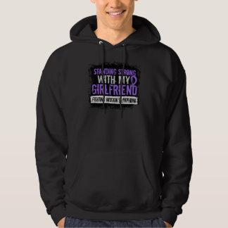 Standing Strong Girlfriend Hodgkins Lymphoma Hooded Sweatshirt