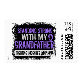Standing Strong Grandfather Hodgkins Lymphoma Postage Stamp