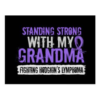 Standing Strong Grandma Hodgkin's Lymphoma Postcard