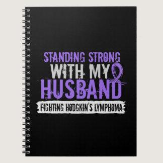 Standing Strong Husband Hodgkins Lymphoma Notebook
