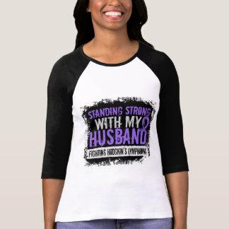 Standing Strong Husband Hodgkins Lymphoma T-shirts