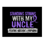 Standing Strong Uncle Hodgkins Lymphoma Postcard