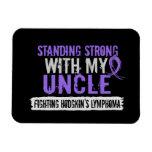 Standing Strong Uncle Hodgkins Lymphoma Vinyl Magnet