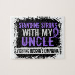 Standing Strong Uncle Hodgkins Lymphoma Jigsaw Puzzles