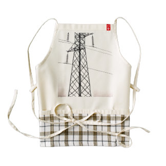 Standing tall and powerful zazzle HEART apron