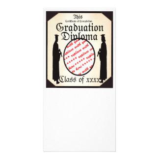 Standing Tall - Graduation Diploma Photo Frame Card
