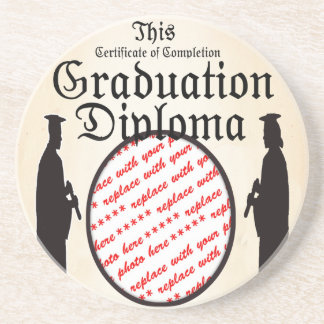 Standing Tall - Graduation Diploma Photo Frame Coaster