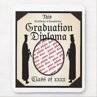 Standing Tall - Graduation Diploma Photo Frame Mouse Pad
