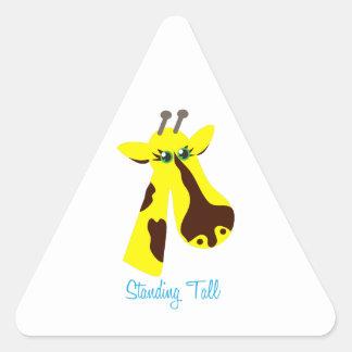 Standing Tall Triangle Sticker