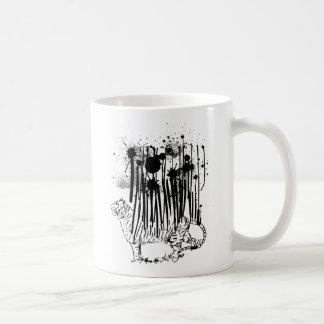 Standing Tiger Abstract Design Coffee Mug